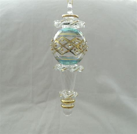 egyptian handmade glass christmas ornament very unique 6