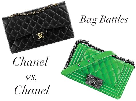 Bag Tas Chanel Classic Klasik Clasic bag battles the chanel classic flap bag vs the chanel boy bag purseblog