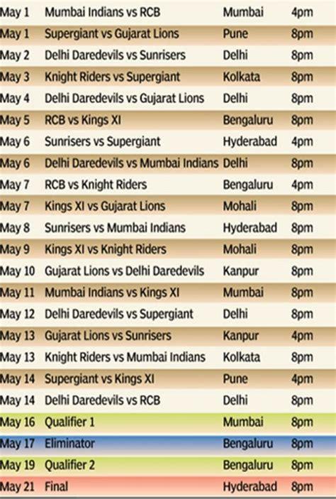www 2017 ipl match programe table photo download ipl 2017 indian premier league season 10 schedule