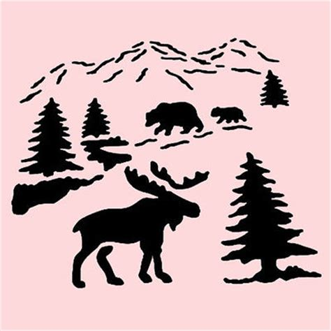 moose stencil car interior design