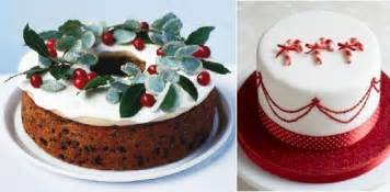 Christmas cakes decorating ideas from bbc good food com left and