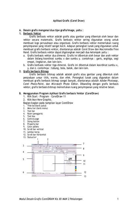 desain grafis corel draw x3 modul corel draw