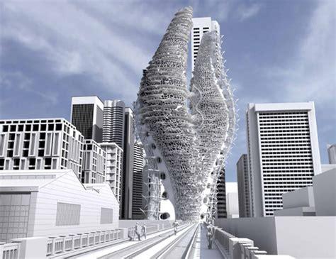 future building designs spiraling skyscraper farms for a future manhattan