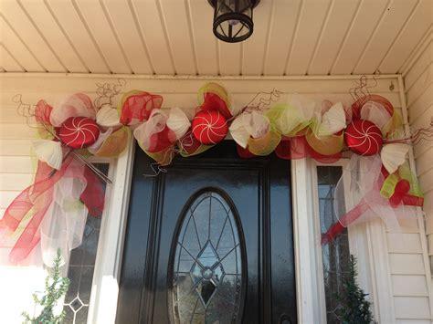 mesh garland   front door    today