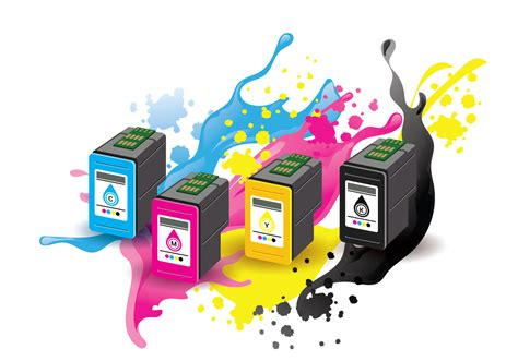 Toner Blueprint ink cartridge vector with ink splatter background