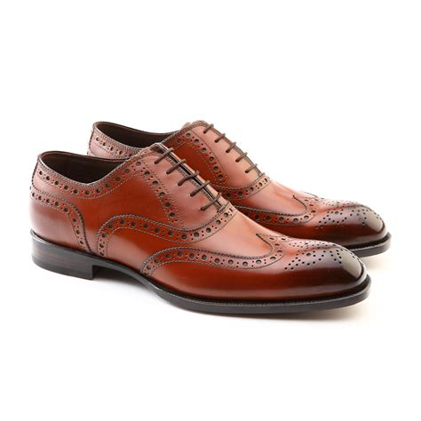 unique oxford shoes stanley brogue wingtip lace up oxford shoe brown