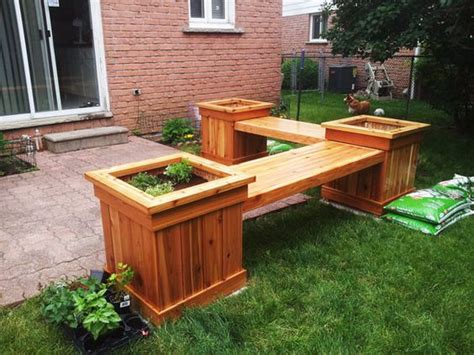 outdoor plant bench diy corner planter bench free outdoor plans diy shed