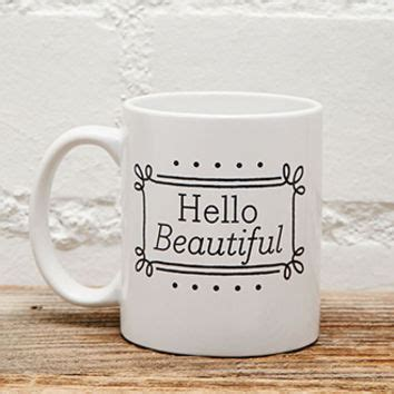 Mug Hello F tickled teal hello beautiful mug from forever 21 forever 21