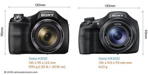 best cameras below 175 sony h300 vs sony hx300 size comparison