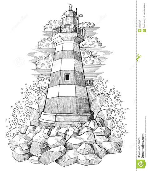 lighthouse home floor plans dessin graphique du phare 4 illustration stock image