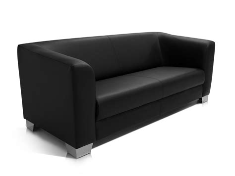 sofa spedition sofa 3 sitzer sofa lounge schwarz kunstleder chicago