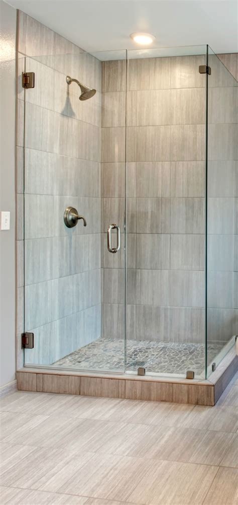 Bathrooms With Showers Showers Corner Walk In Shower Ideas For Simple Small Bathroom With Shower Pans