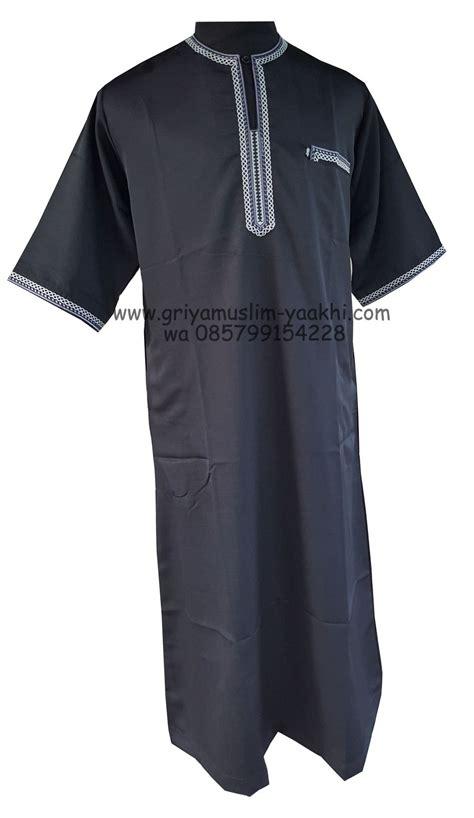 Jubah Sadaf Lengan Pendek Bordir jubah lengan pendek toko muslim ya akhi