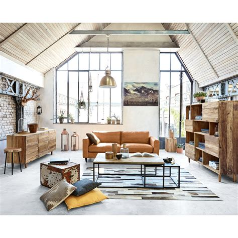 tappeto pelle tappeto pelle 160 x 230 arty maisons du monde