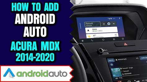 acura mdx android auto add android auto apple carplay