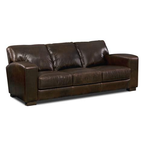 Grayson Leather Sofa   Value City Furniture