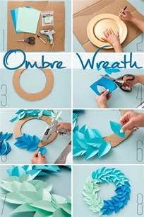 cool decorations to make at home 25 best ideas about paper wreaths on diy
