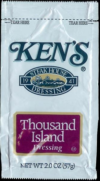 Condiment Packet Gallery by Ken S Thousand Island Dressing