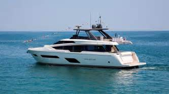 yacht hits boat video first ferretti 780 yacht hits the water boat