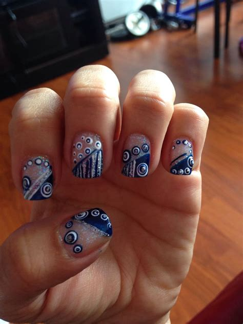 imagenes de uñas acrilicas azul rey u 241 as azul rey blue and green nails pinterest