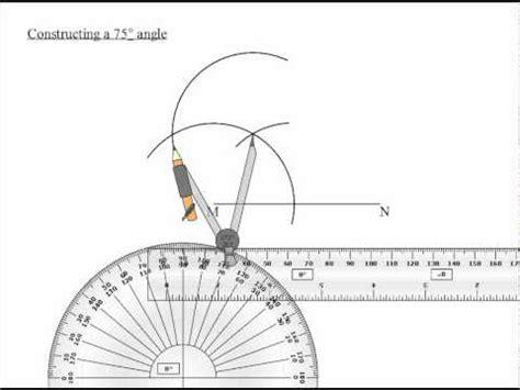 Drawing 75 Degree Angle Compass by 75 Degree Angle Avi