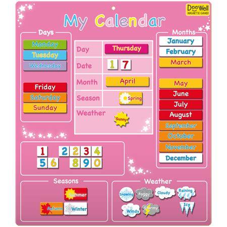 Calendar For Children Magnetic My Wall Calendar For Children In S A