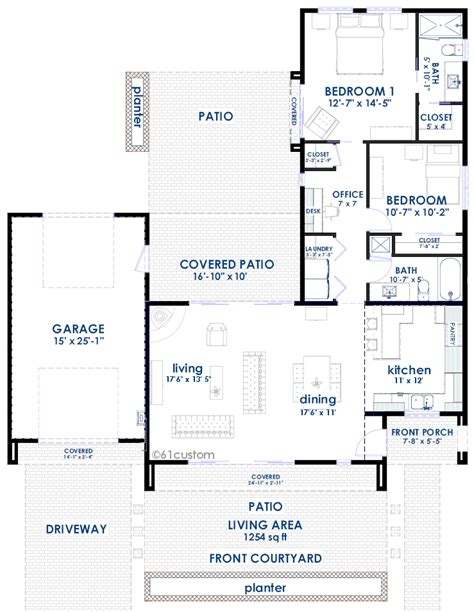 adobe floor plans contemporary adobe house plan 61custom contemporary