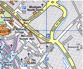 printable map york city centre york city street map