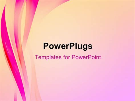 powerpoint template abstract elegant background with pink
