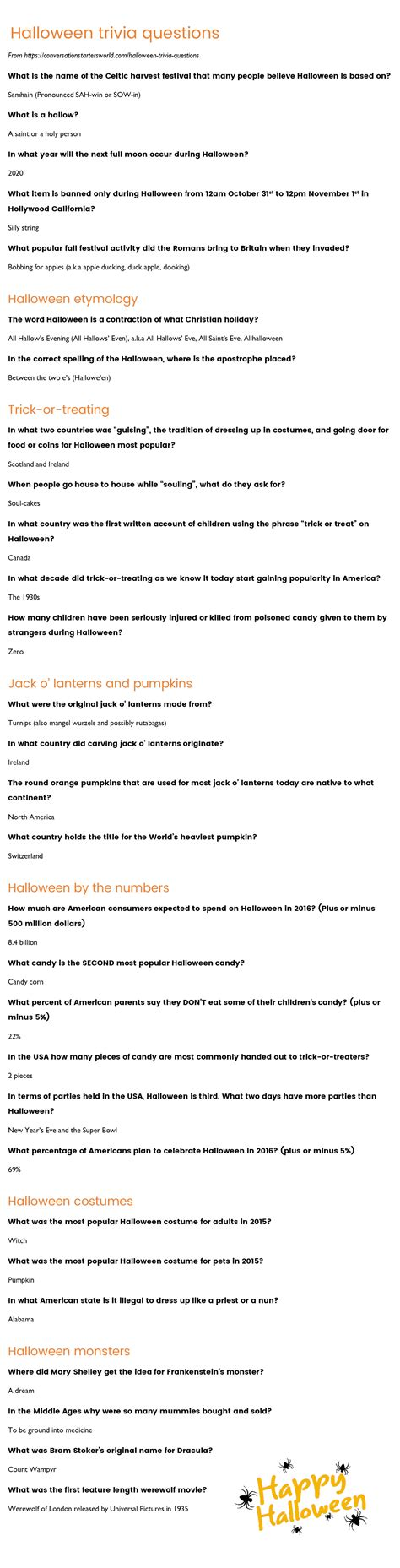 quiz questions list 29 challenging halloween trivia questions how many can