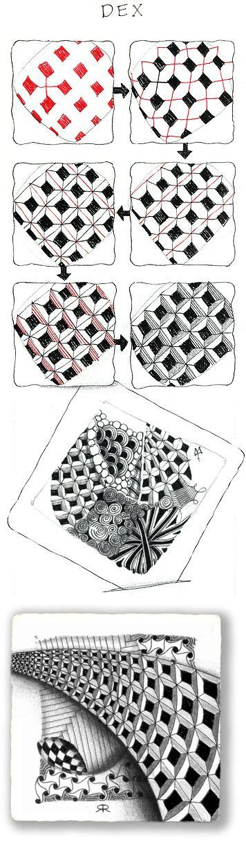 jonqal zentangle pattern dex official zentangle with exles draw and doodle