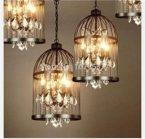 Aliexpress Com Buy 35 45cm Nordic Birdcage Crystal | 15 best ideas of birdcage lighting chandeliers