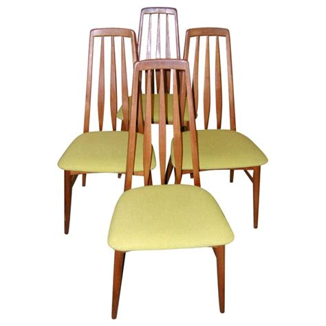 Danish Dining Room Chairs | set of four danish modern teak dining room chairs for sale