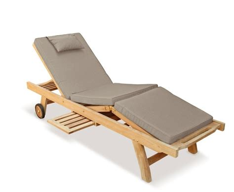 sun chairs luxury sun lounger with cushion teak
