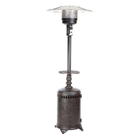 Fire Sense 46 000 Btu Bronze Sedona Cast Aluminum Propane Sense Propane Patio Heater