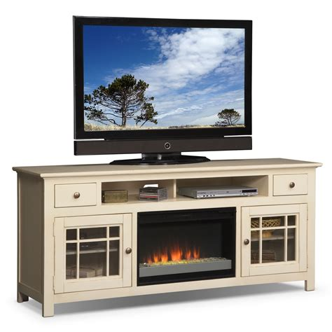 rooms to go media cabinets merrick white 74 quot fireplace stand with contemporary