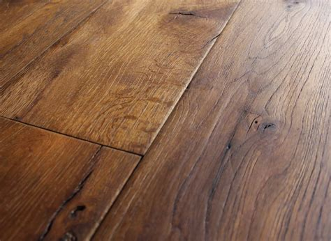 Hardwood Floor Planks Reclaimed Oak Beam Cut Light Smoke Sculpted Brushed 14 Oak Flooring