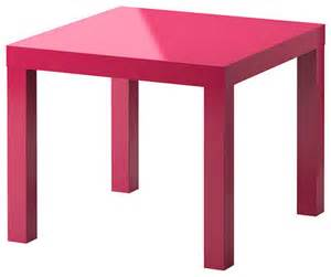 Pink Side Table Lack Side Table High Gloss Pink Contemporary Side Tables And End Tables By Ikea