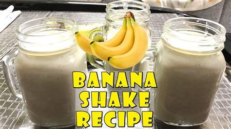 banana shake recipe in how to make banana