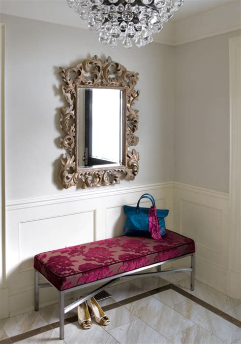entry bench with mirror silver leaf mirror hall farmhouse with antique bench