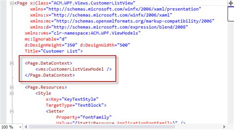 xaml layout exles xaml intellisense for bindings and the data context