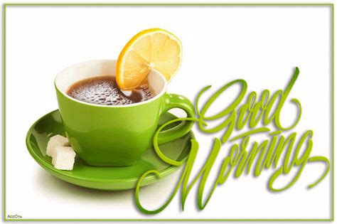 lemon tea good morning animation pictures