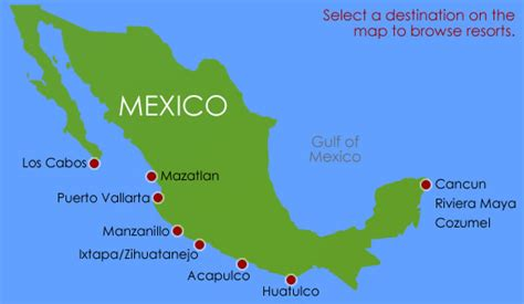 map of mexico vacation spots mexican coast map of resorts pictures to pin on