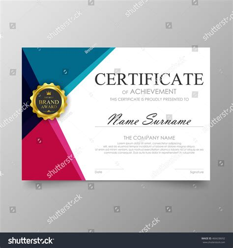 layout design awards certificate template awards diploma background vector