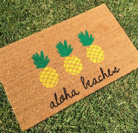 Pineapple Doormat Aloha Beaches Pineapple Doormat Pineapple By