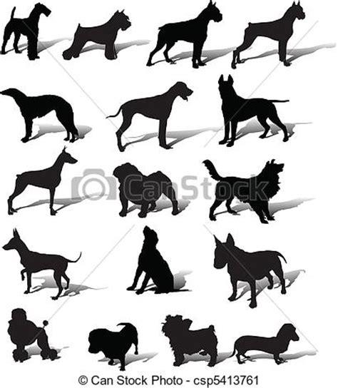 clipart cani clipart vettoriali di slhouette vettore cani cani