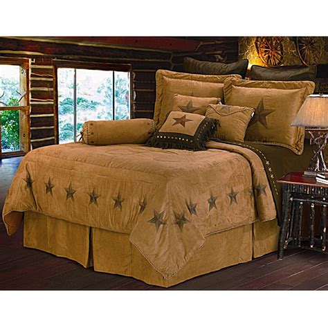 star bed star dark tan western bedding set full