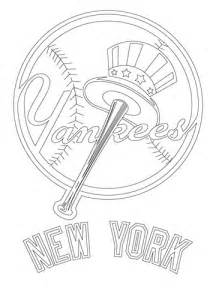 New York Yankees Coloring Pages new york yankees logo coloring page supercoloring