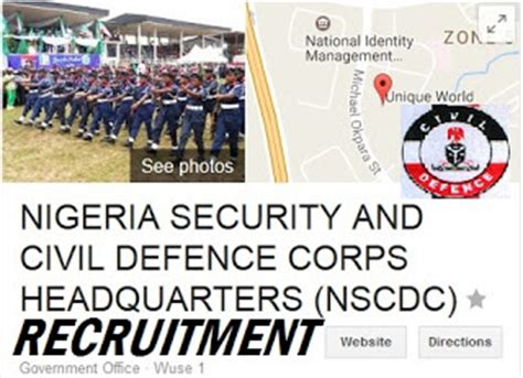 Corps Application Requirements 2018 2019 Nigeria Civil Defense Corps Nscdc