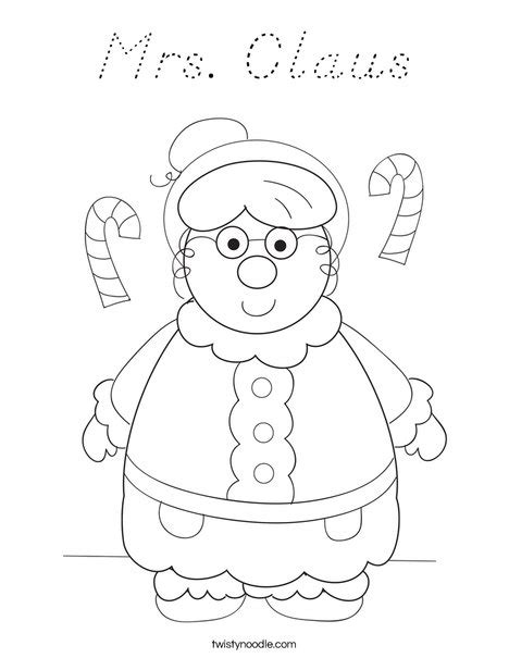 Mrs Claus Coloring Page Twisty Noodle | mrs claus coloring page d nealian twisty noodle
